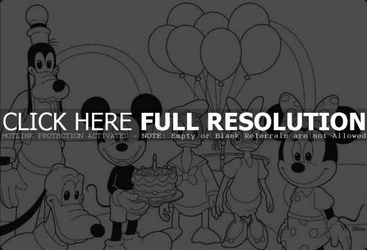 mickey mouse happy birthday coloring page ; birthday-mickey-mouse-coloring-pages-530x361