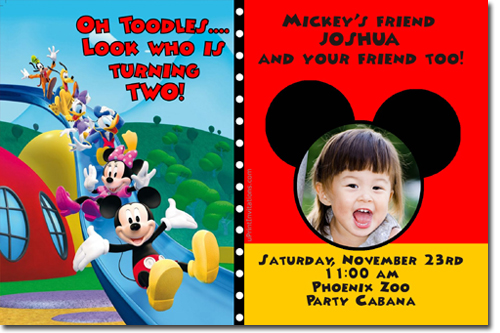 mickey mouse photo birthday invitations ; mickey%2520clubhouse3
