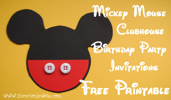 mickey mouse photo birthday party invitations first ; Mickey+Mouse+Clubhouse+Birthday+Party+Invitation+Free+Printable+Template+Stencil