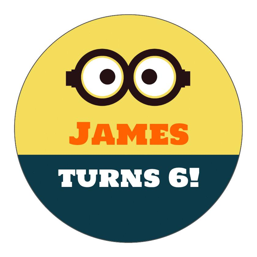 minion birthday stickers ; 1410981819072339483787369