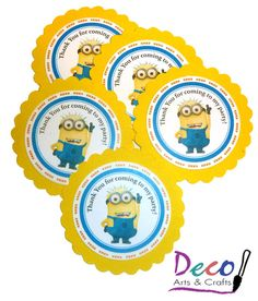 minion birthday stickers ; 2d55450acc82a1fd8bd166026739d461--despicable-me-party-minion-party