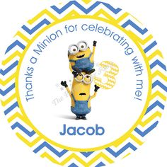 minion birthday stickers ; 71f9b95ce530588a0ad1a0ce68ef2922--minion-birthday-parties-minion-party