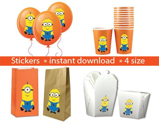 minion birthday stickers ; 9ee2a54cf4933acce5a6a70b5ed55e93