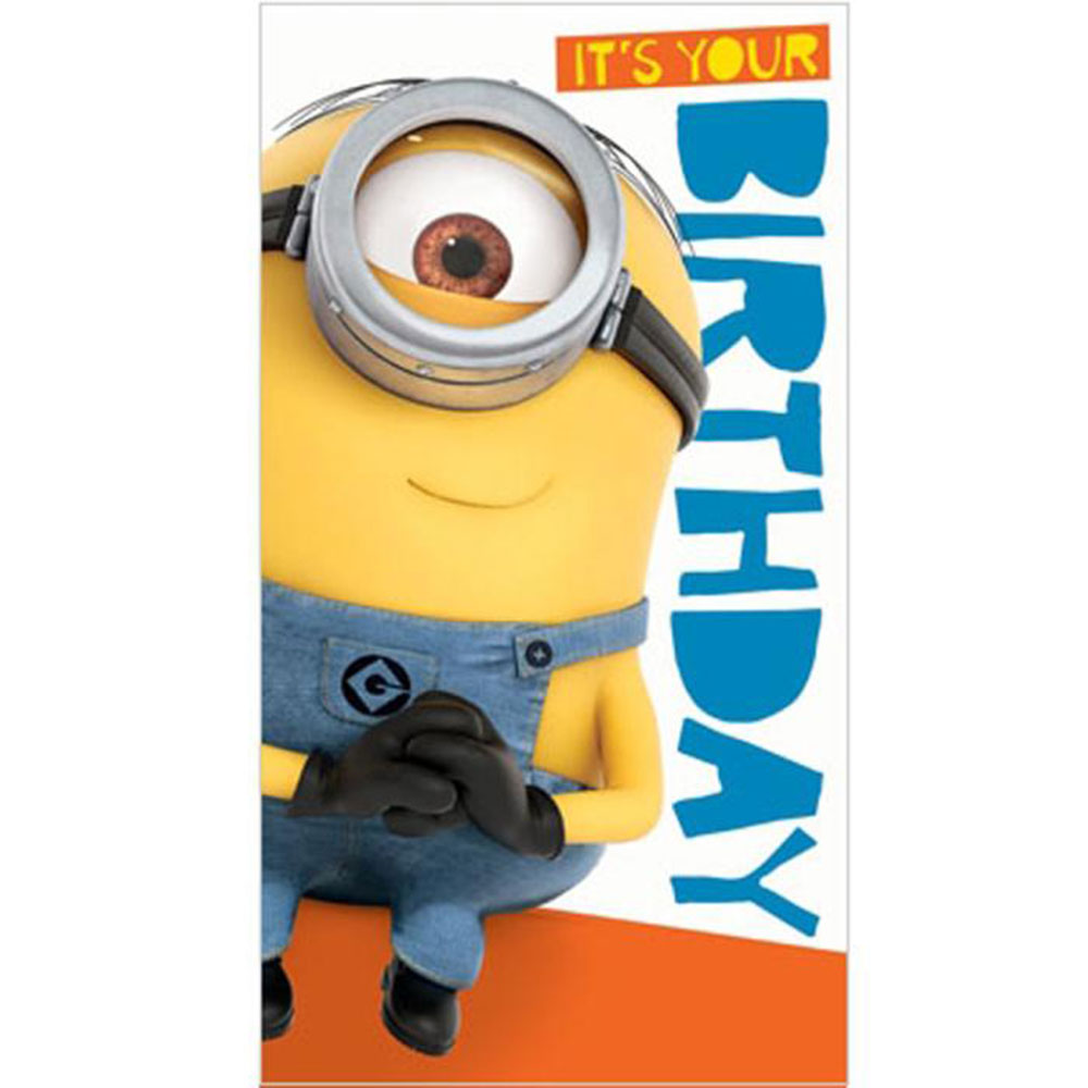 minion birthday stickers ; DE037
