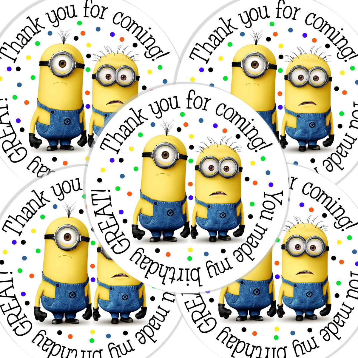 minion birthday stickers ; fc93221cd3d3b542d788dc1621eb57ac