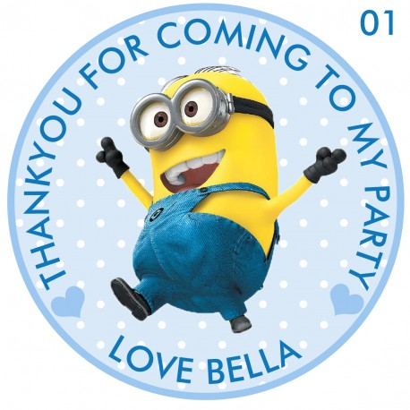 minion birthday stickers ; personalized-minion-party-stickersthank-you-seals-