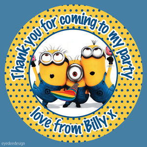 minion birthday stickers ; s-l300