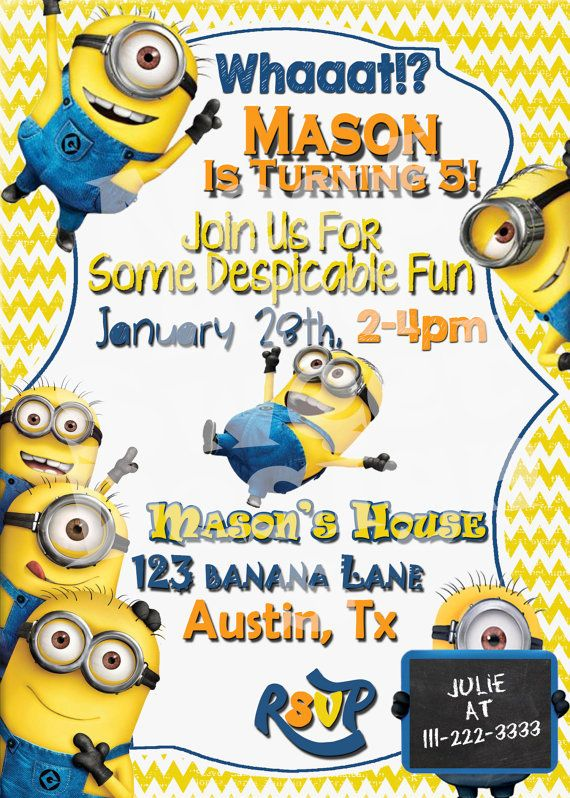 minions birthday invitation card template ; minion-birthday-invitation-with-some-beautification-for-your-Birthday-Invitation-Templates-to-serve-catchy-environment-7