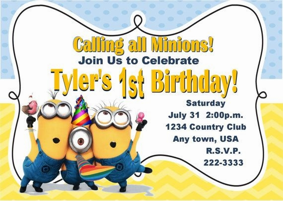 minions birthday invitation card template ; minion-birthday-party-invites-was-best-style-to-make-perfect-invitation-layout