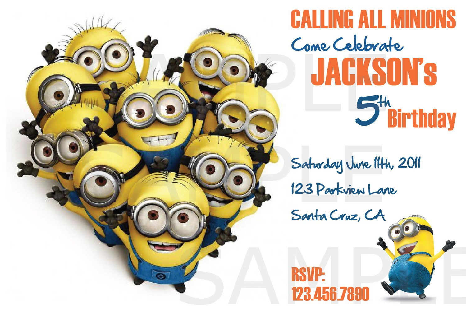 minions birthday invitation card template ; others-general-minions-birthday-party-invitation-card-for-kids