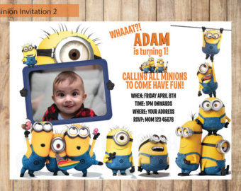 minions birthday invitation card template ; personalized-minion-birthday-invitations-and-adorable-invitations-fitting-aimed-at-giving-pleasure-to-your-Birthday-Invitation-Templates-8