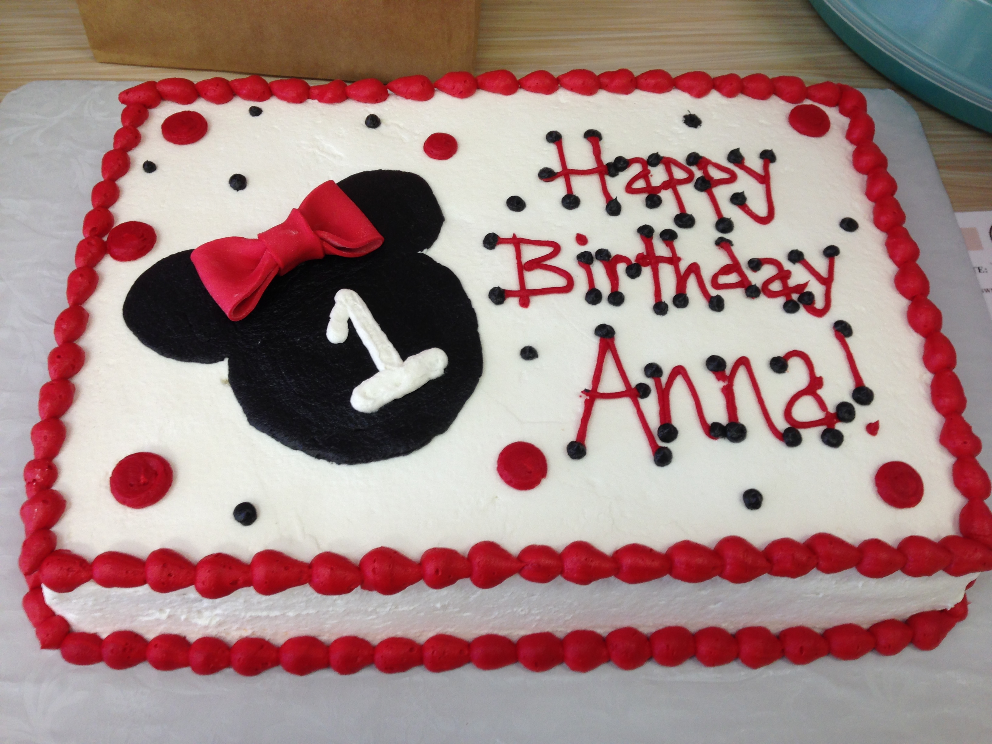 minnie mouse birthday sheet cake ; 07ba62fe49f19c0fa49777c0449b186d