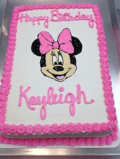 minnie mouse birthday sheet cake ; 20ef83707f256ffb9ecafa9a9fe11274--birthday-cakes-birthday-ideas