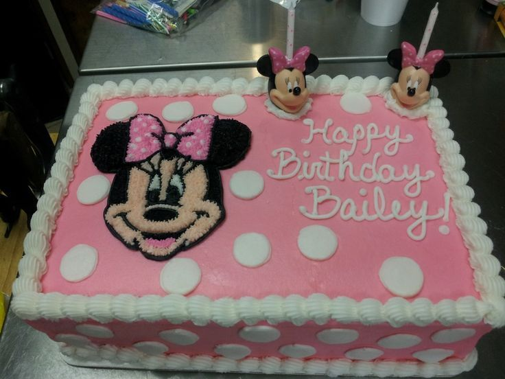 minnie mouse birthday sheet cake ; 7cde333bd677908df406c12920c86fae