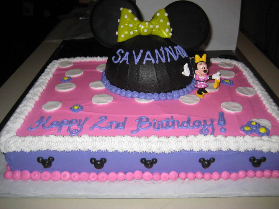minnie mouse birthday sheet cake ; 900_246303QMPW_minnie-mouse-sheet-cake