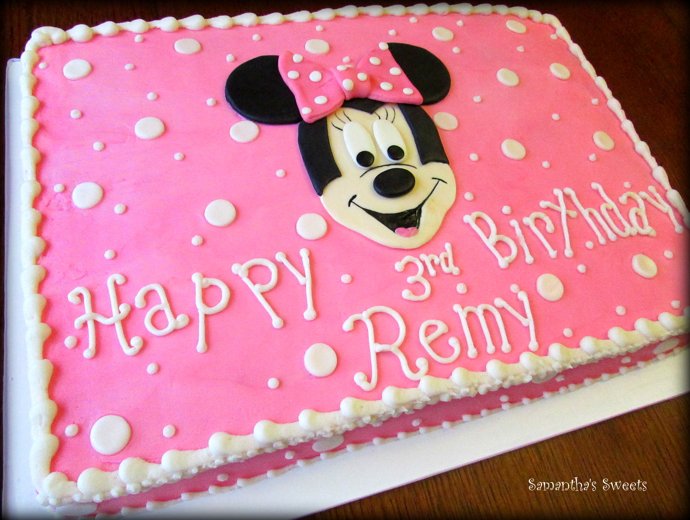 minnie mouse birthday sheet cake ; 90e2cb105d52f95890d9151a9d7f9ef7
