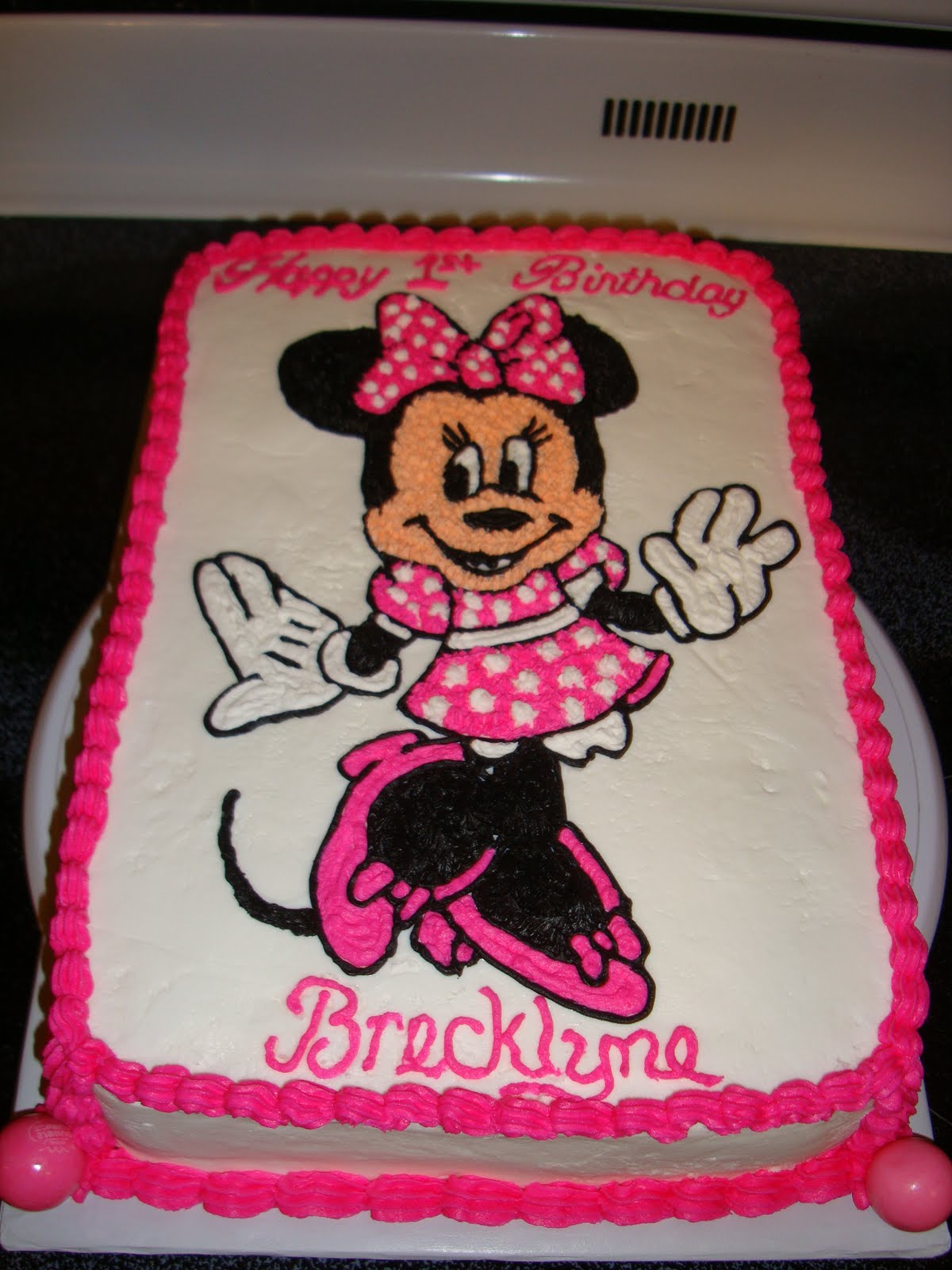 minnie mouse birthday sheet cake ; DSC06610