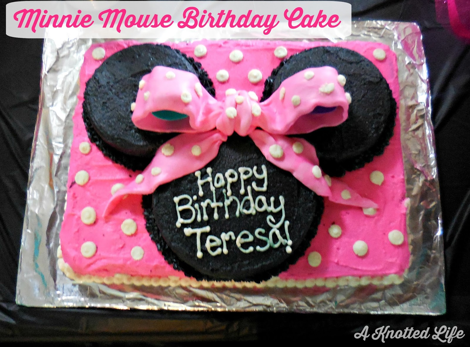 minnie mouse birthday sheet cake ; Minnie%252BMouse%252BCake
