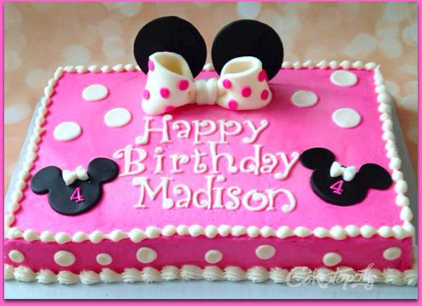 minnie mouse birthday sheet cake ; a89163ebad63691f1b682fe3a13913db