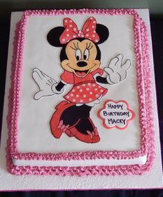 minnie mouse birthday sheet cake ; bd1ecfc82becf2dbae1395b4f94350b3