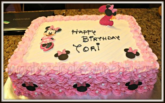 minnie mouse birthday sheet cake ; k4lllpmmltpohqebutew