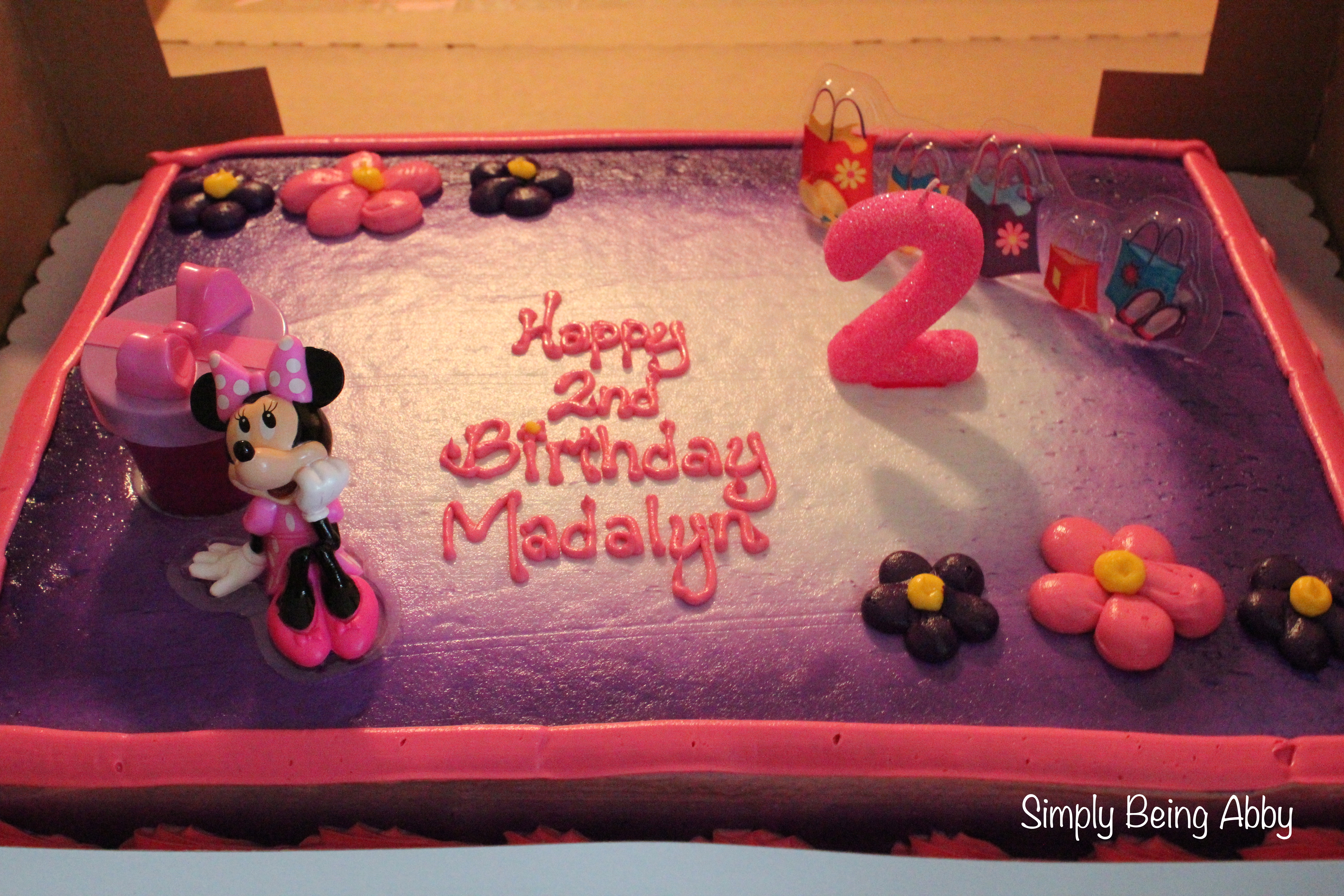 minnie mouse first birthday sheet cake ; img_05381