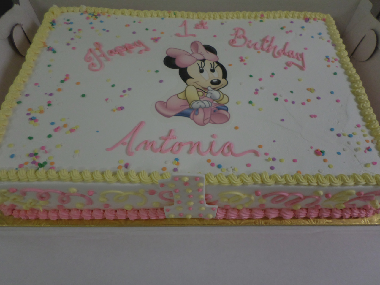 minnie mouse first birthday sheet cake ; inspirational-of-lovely-ideas-minnie-mouse-ice-cream-cake-baby-1st-birthday-sheet-ninas-first