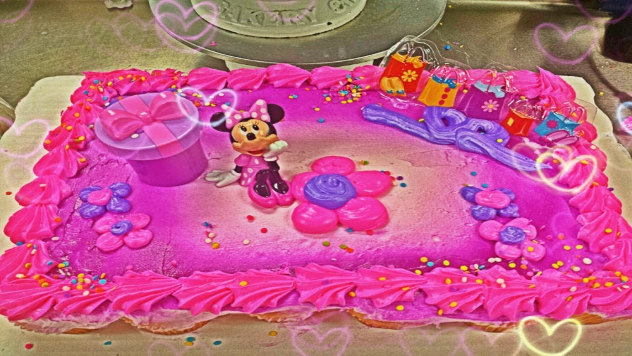 minnie mouse first birthday sheet cake ; maxresdefault