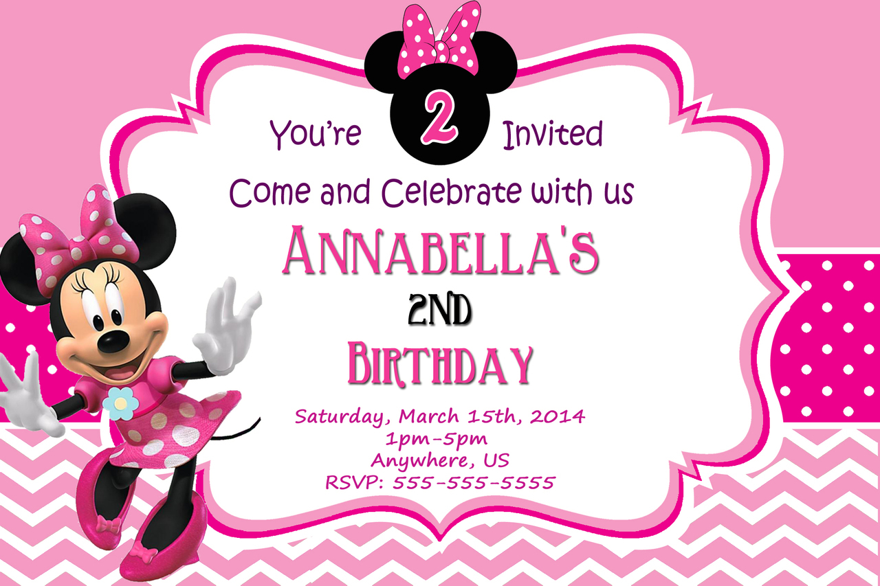 minnie mouse photo birthday invitations ; Minnie-mouse-birthday-invitations-for-a-awesome-birthday-invitation-design-with-awesome-layout-1