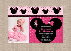 minnie mouse photo birthday invitations ; minnie-mouse-1st-birthday-invitations-and-bewitching-invitations-fitting-aimed-at-giving-pleasure-to-your-Baby-Shower-Invitation-Templates-16