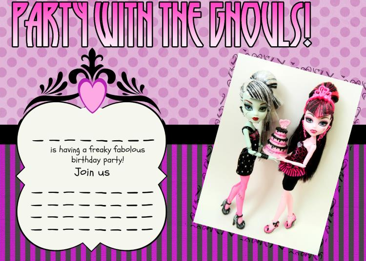 monster high birthday invitation templates free ; 47ea39ca6d2eb6978278e2379a7128a3