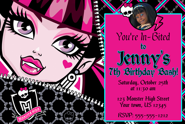 monster high birthday invitation templates free ; Simple-Monster-High-Birthday-Invitations-Ideas