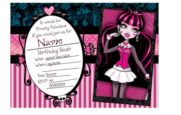 monster high birthday invitation templates free ; c6f52b43cf3ccb2fc90c23cfae5fe4d9