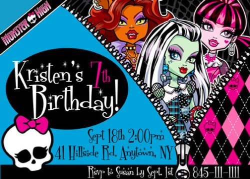 monster high birthday invitation templates free ; monster-high-birthday-invitations-template-aamel13r