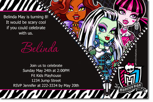 monster high birthday invitation templates free ; monster-high-birthday-invitations-together-with-a-picturesque-view-of-your-Birthday-Invitation-Templates-using-sensational-invitations-12