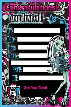 monster high birthday invitation templates free ; monster-high-birthday-invitations-with-catchy-invitations-for-resulting-an-extraordinary-outlook-of-your-Birthday-Invitation-Templates-8