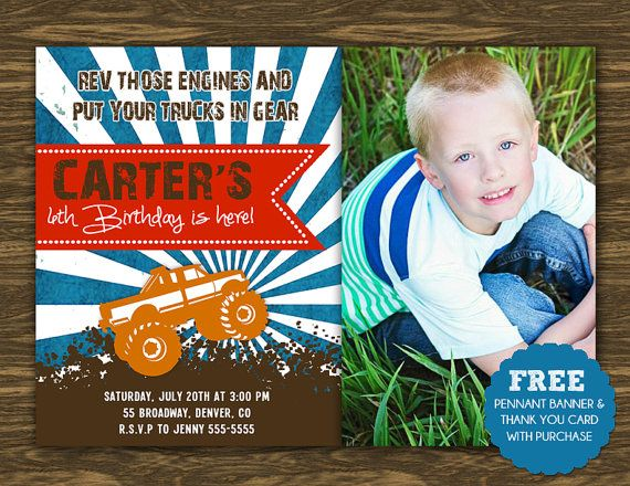 monster truck birthday invitation template ; monster-truck-birthday-invitations-and-the-invitations-of-the-Birthday-Invitation-Templates-to-the-party-sketch-with-cool-idea-15