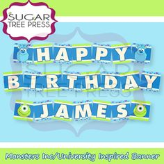 monsters inc birthday banner ; 2162dd360392d1a9cfb2a64f5a5bc250--party-monsters-monster-party