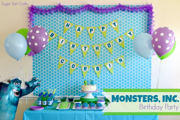 monsters inc birthday banner ; Monster-Party