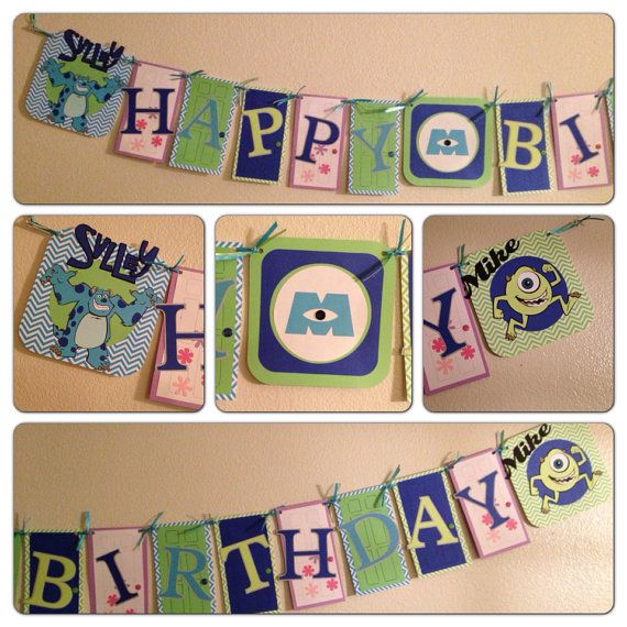 monsters inc birthday banner ; b7178fbd92c8ff2388a4abe7d2c5dc7f--monster-inc-party-party-monsters