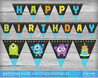 monsters inc birthday banner ; monsters-inc-birthday-banner-il-340x270