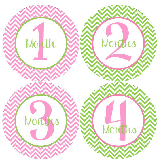 monthly birthday stickers ; il_fullxfull
