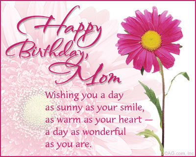 mum birthday card message ; birthday-message-for-mom-birthday-messages-for-mother-pink-flower-design-with-greeting-pink-theme-simple-birthday-card-to-mom