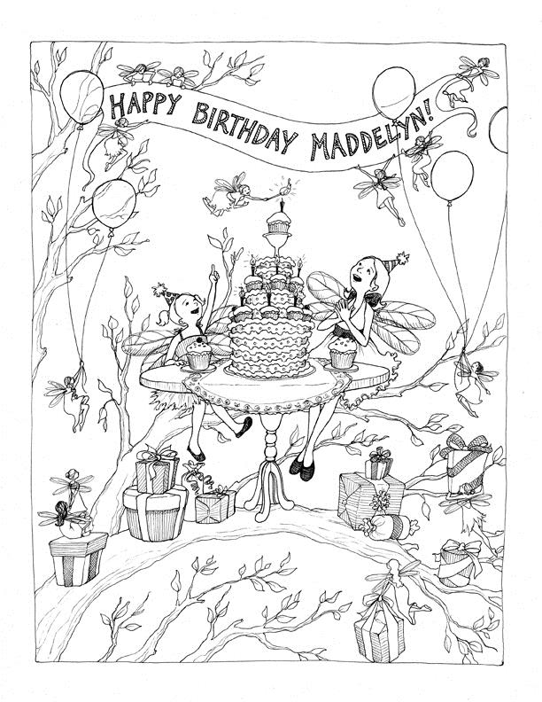 my birthday party drawing ; HappyBday_Maddy72