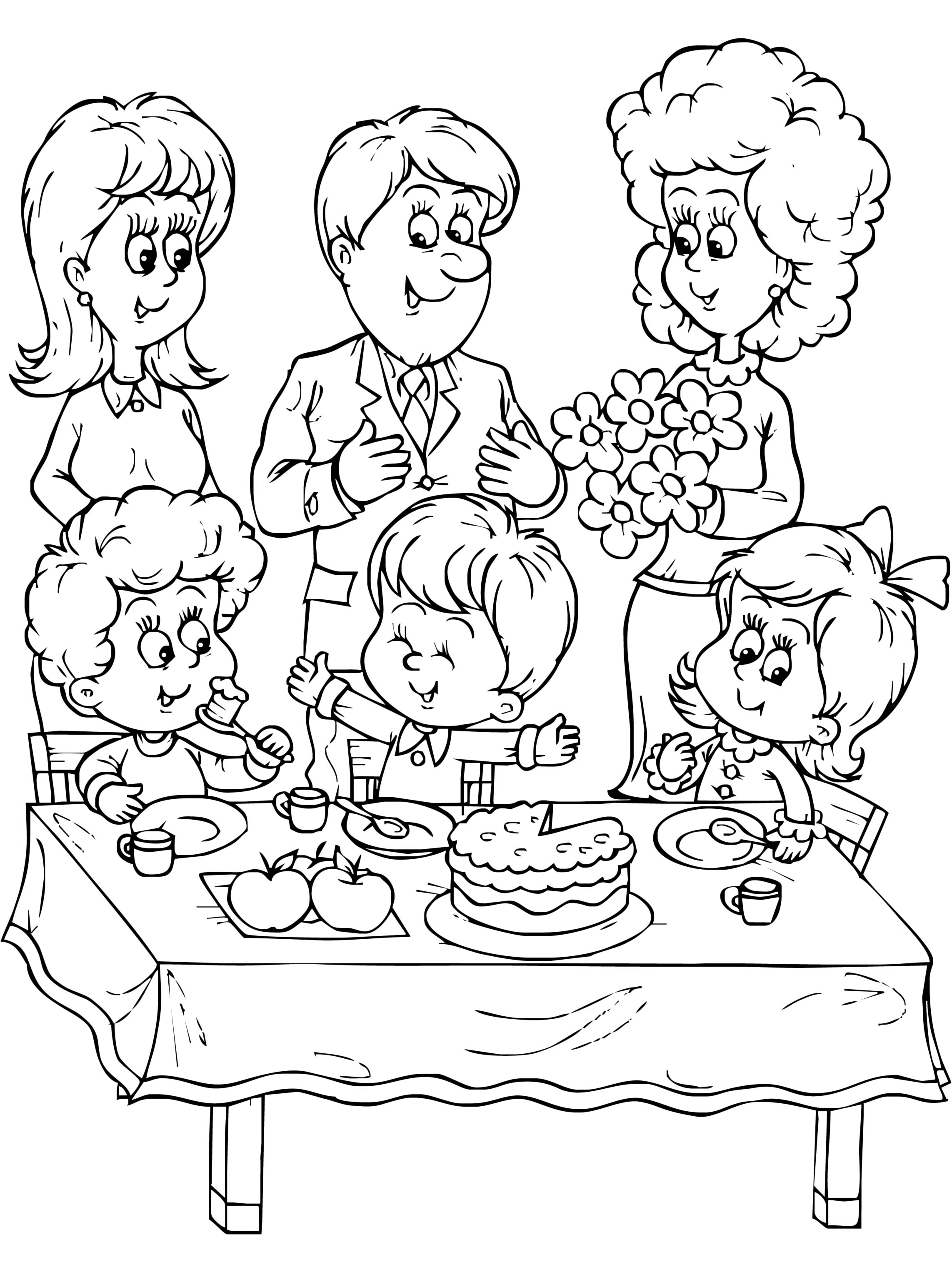 my birthday party drawing ; me-and-my-family-drawing-12