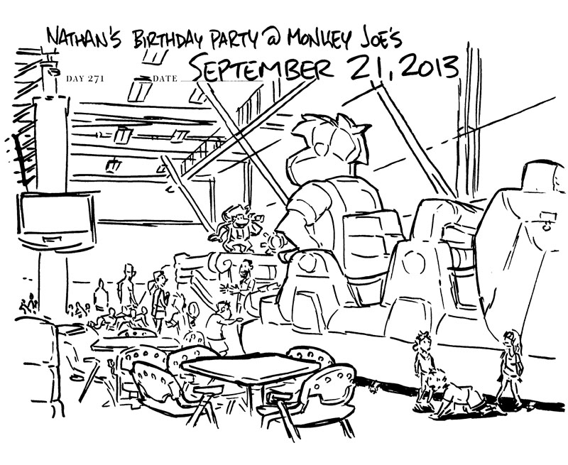 my birthday party drawing for kids ; 2013September21