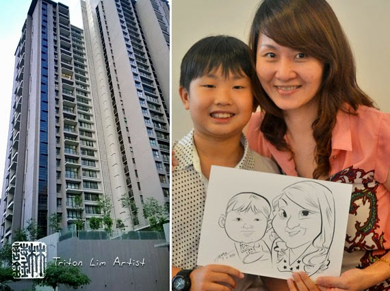 my birthday party drawing for kids ; caricature-artist-malaysia-triton-lim-birthday-party-bdr-sri-damansara-01