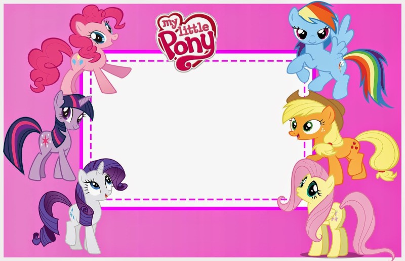 my little pony birthday photo invitations ; Free-Printable-My-Little-Pony-Invitation-Template