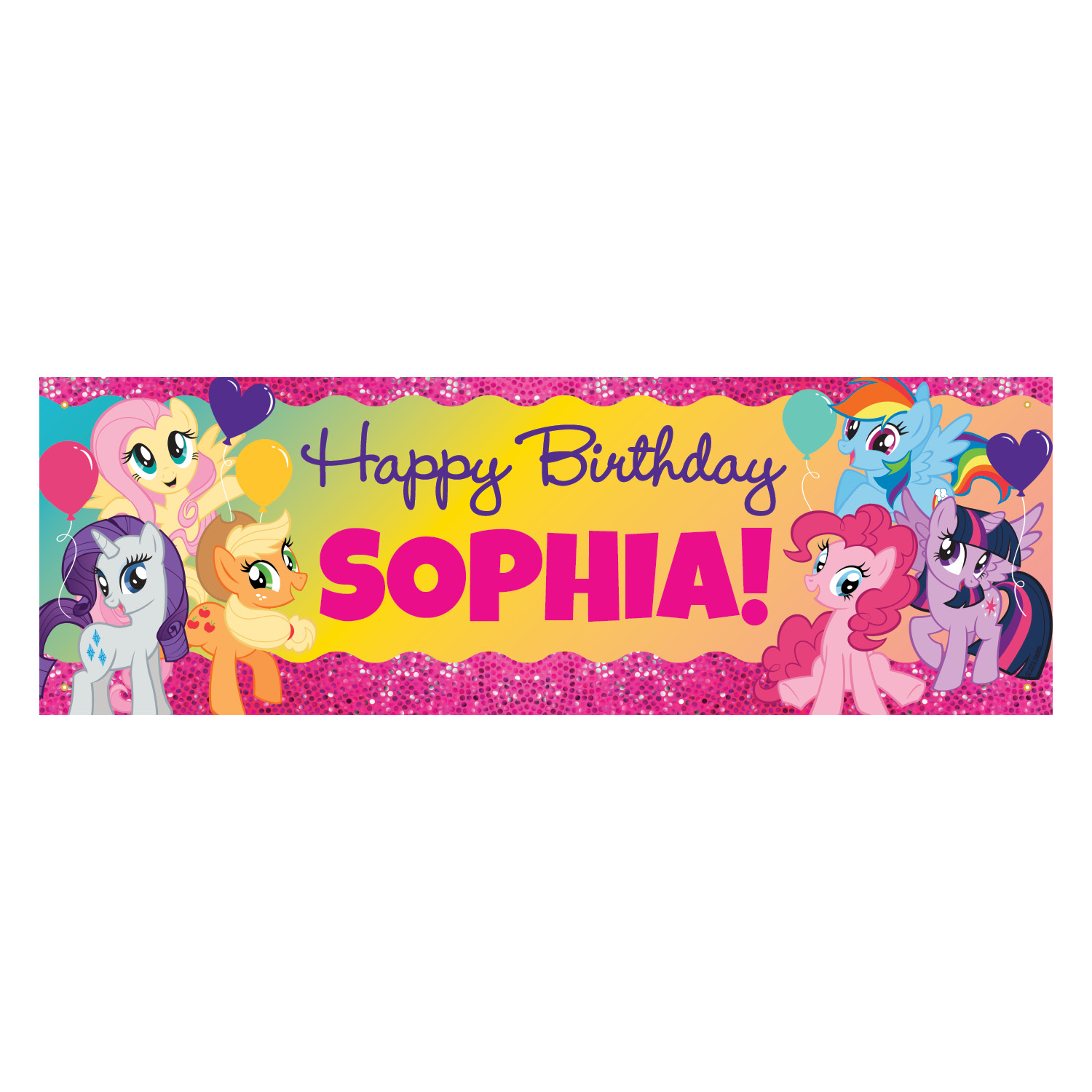 my little pony happy birthday banner ; 1500_60921