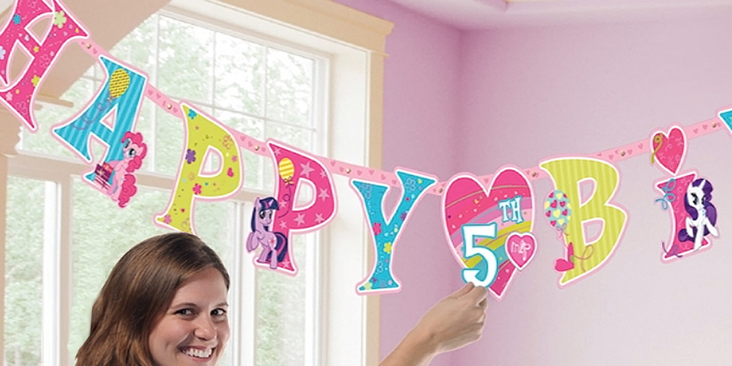 my little pony happy birthday banner ; 20140